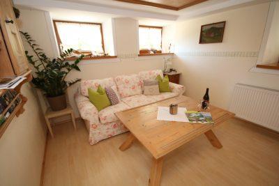 Wohnzimmer unserer Ferienwohnung im ehemaligen Kuhstall